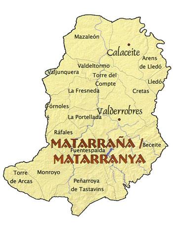 Mapa Matarraña